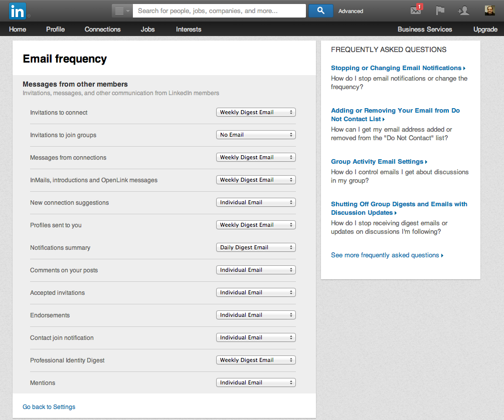 How to Unsubscribe from all LinkedIn Email Notifications