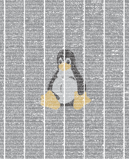 linux wall poster