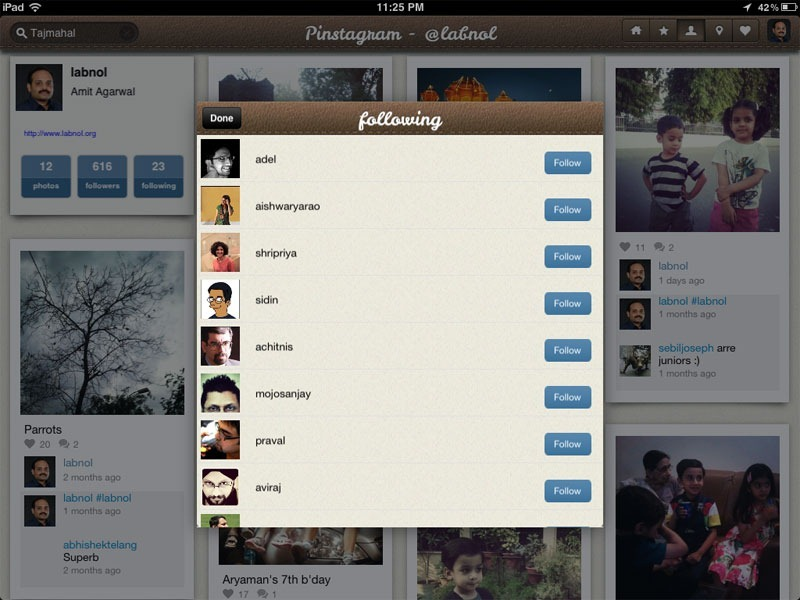 manage instagram friends
