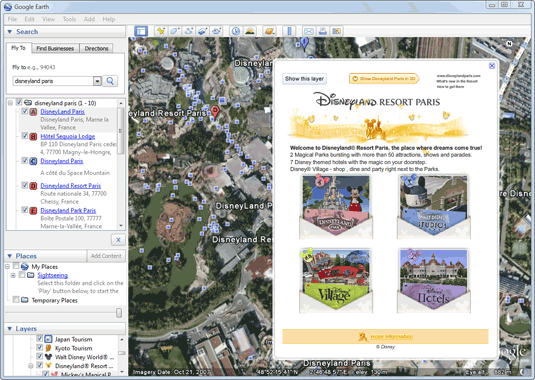 mickey mouse on google earth
