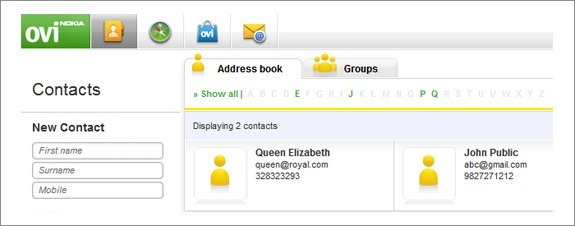 nokia contacts