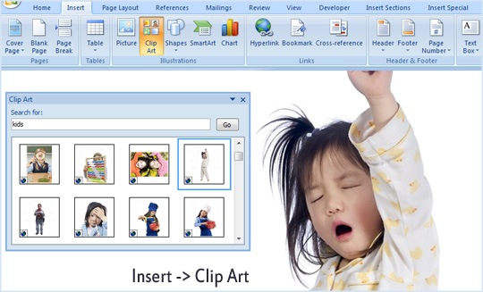 insert images in office