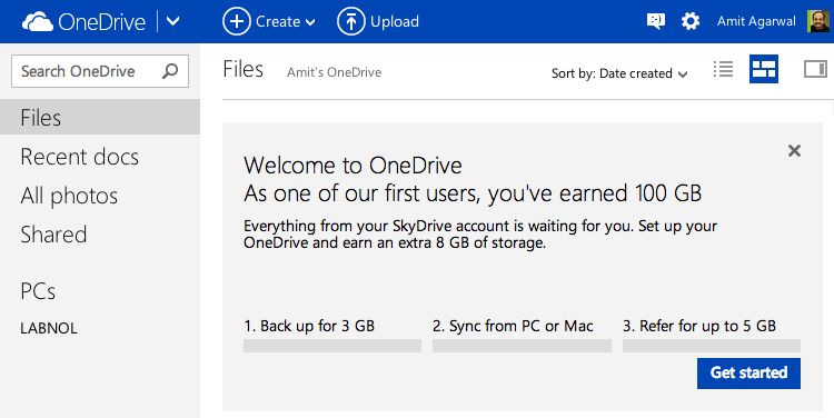Read more about the OneDrive launch on the official blog .: www.labnol.org/internet/100gb-free-storage/28413