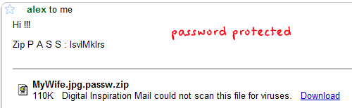 password protected mail