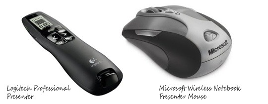 Wireless Presentation Remotes with Laser