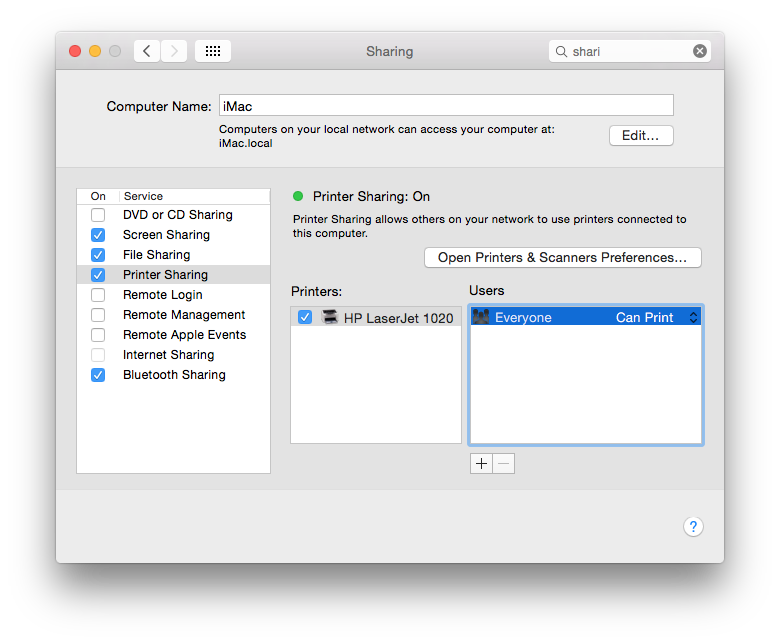 How to Print to a Windows Connected Printer from Mac