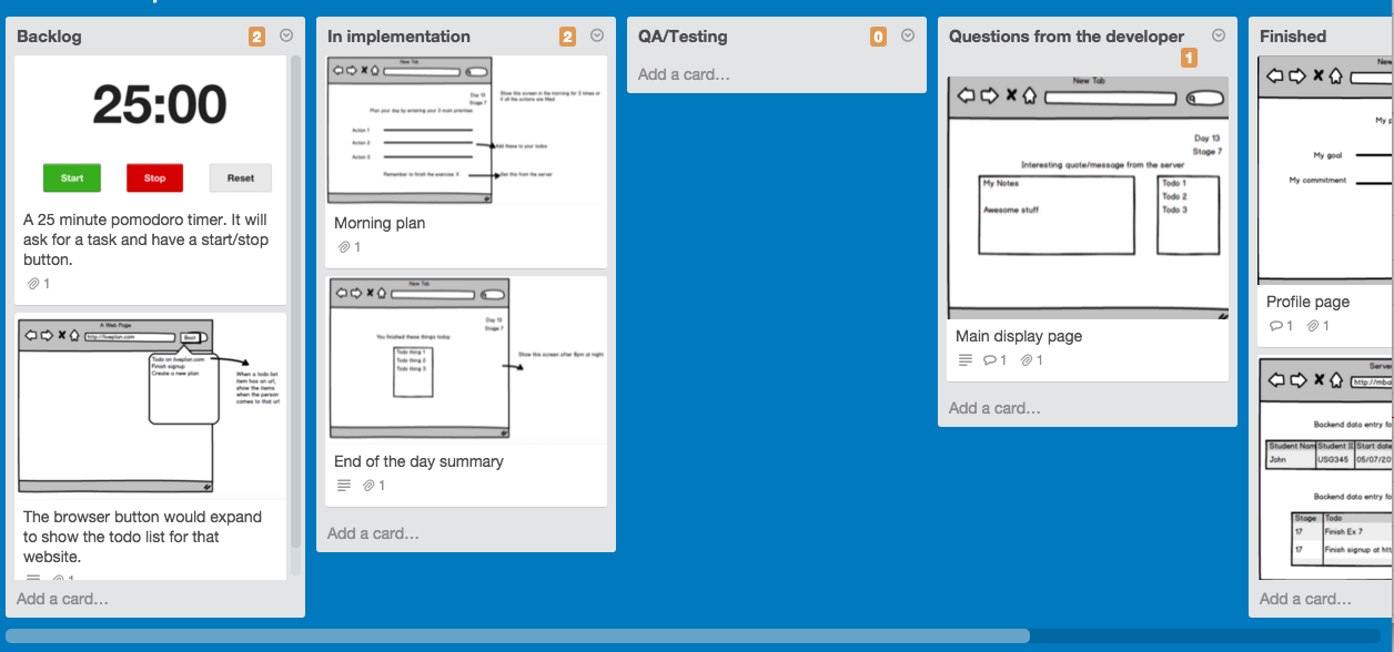 Product Development with Trello