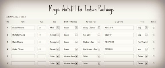 Booking Train Tickets On Irctc Website? Autofill Reservation Forms