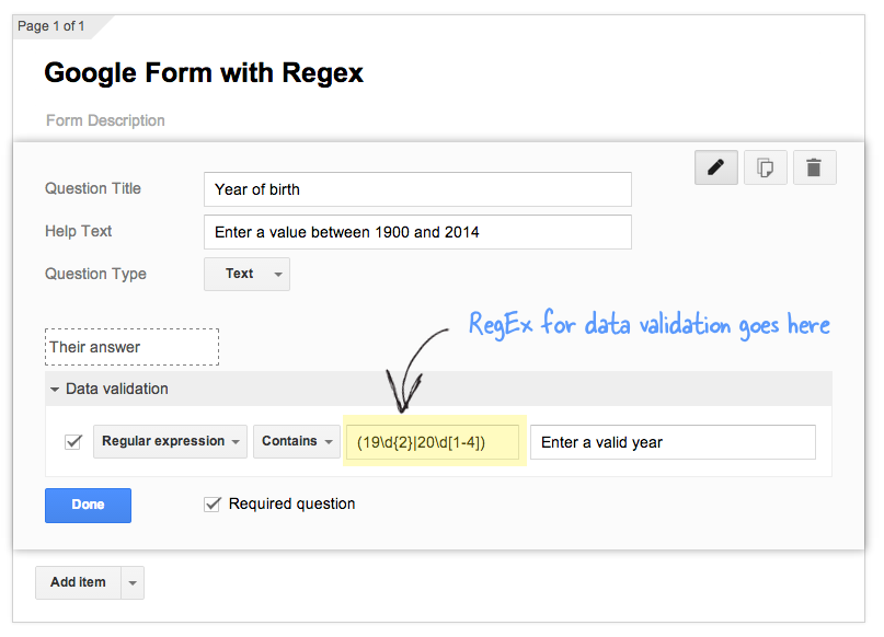 Useful Regular Expressions for Data Validation in Google Forms