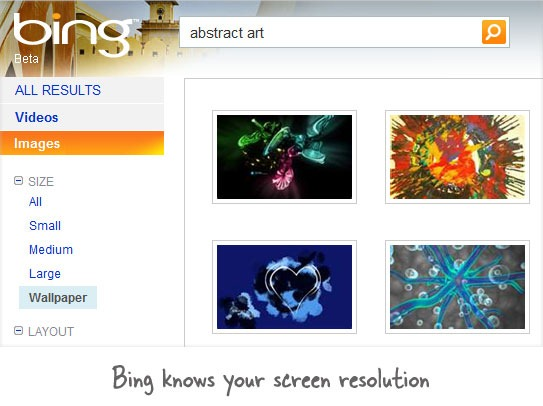 Search Wallpaper Images on Bing