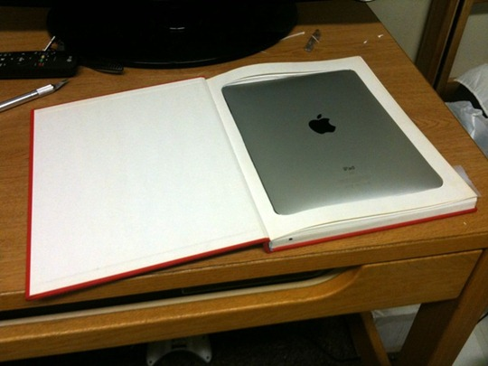 Make your own Apple iPad Case with a Hardcover Book