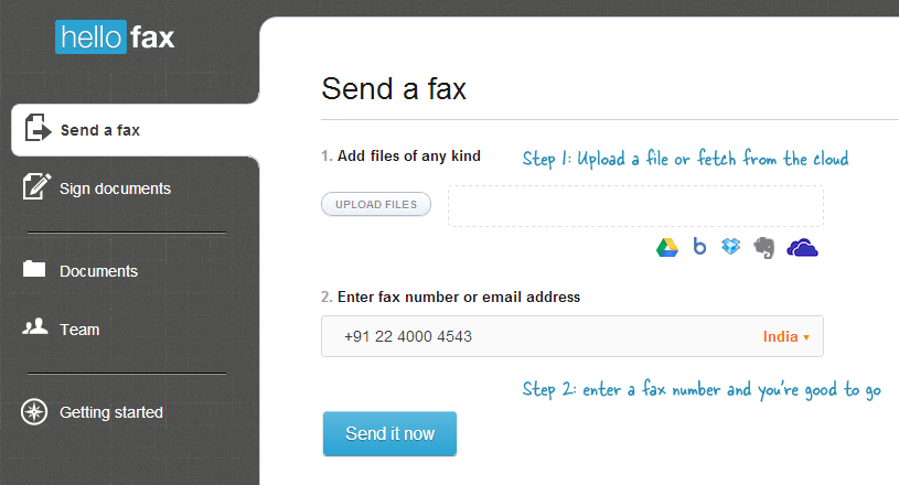 how to send a free fax to anywhere in the world