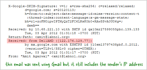 address by email find ip