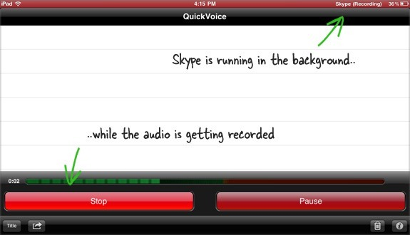 How to Record a Skype Video Call On iPad