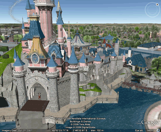 take a 3d virtual tour of disneyland via google earth. Black Bedroom Furniture Sets. Home Design Ideas