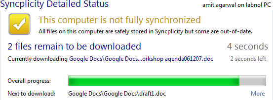 how to add of sync on google docs