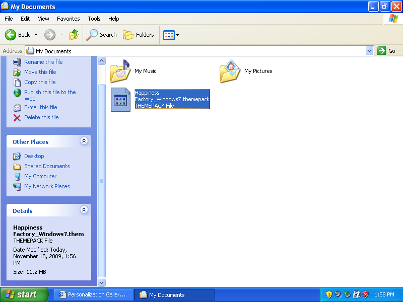 How to install windows xp theme for windows 7.