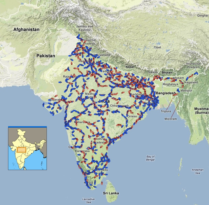Indian Trains Location