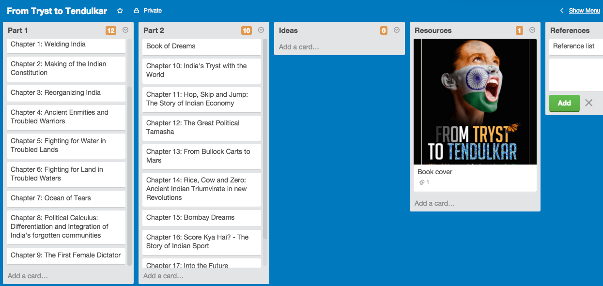 Book Writing with Trello