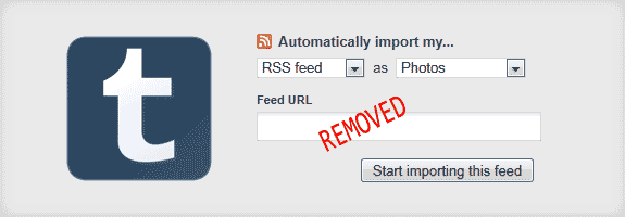 Tumblr RSS Import