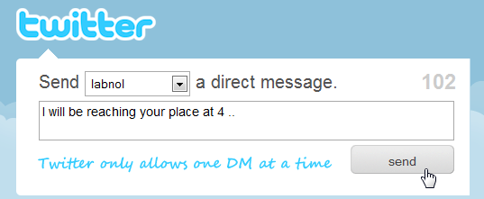Send Twitter Direct Messages (DMs)