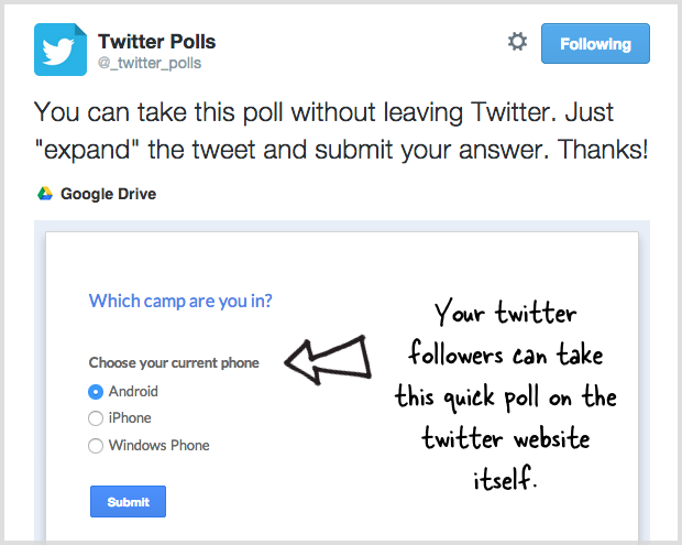 How to Run a Poll or Quiz on Twitter with Google Forms