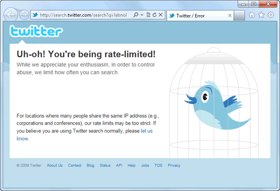 twitter rate limit