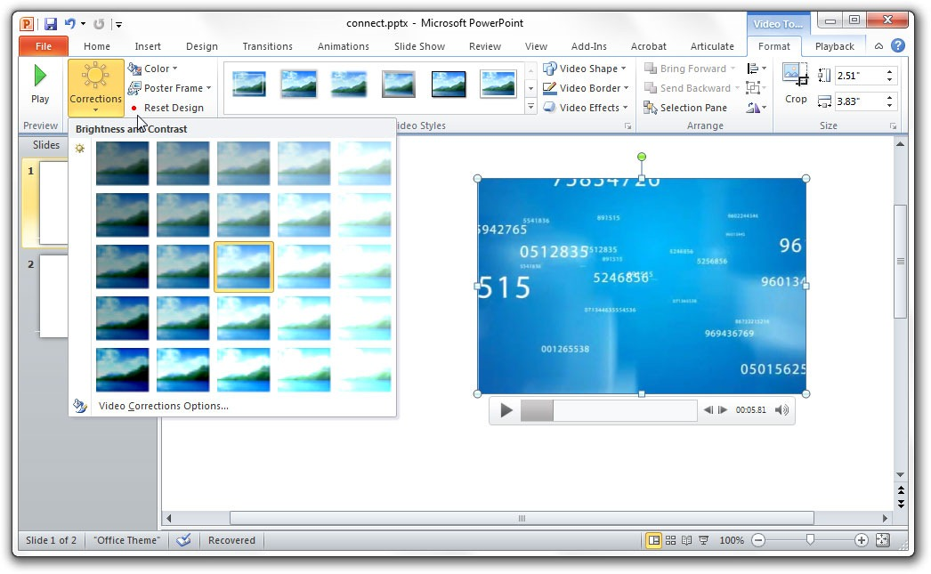 Edit Videos with PowerPoint 2010