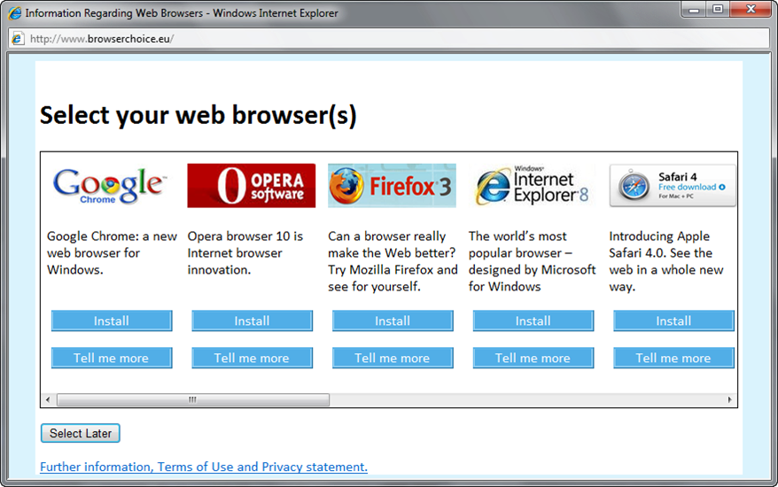 Here's the story: Microsoft bundles their Internet Explorer browser ...