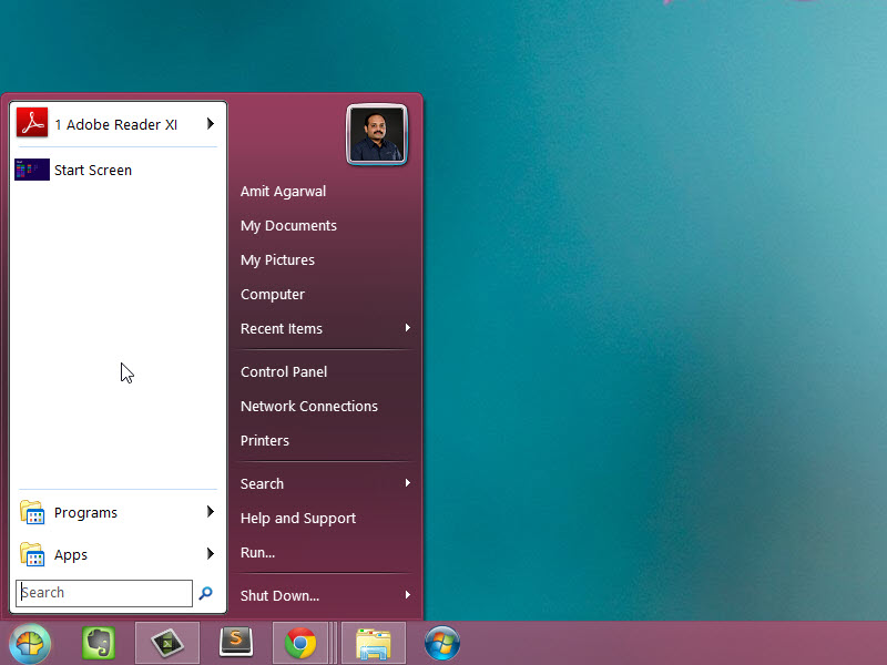 Windows 8 Start Button Classic