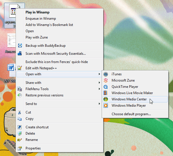 Windows Context Menu