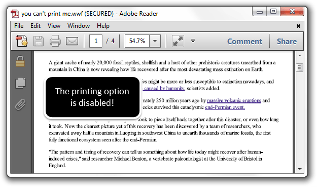 wwf printer for windows