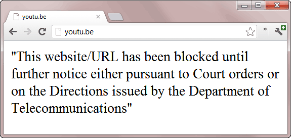 Youtu.be Blocked in India
