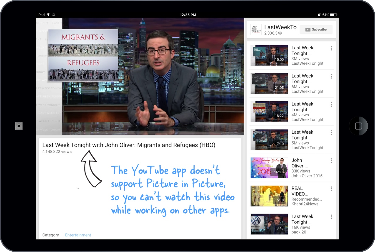 How to Watch YouTube Videos with Picture-in-Picture on your iPad
