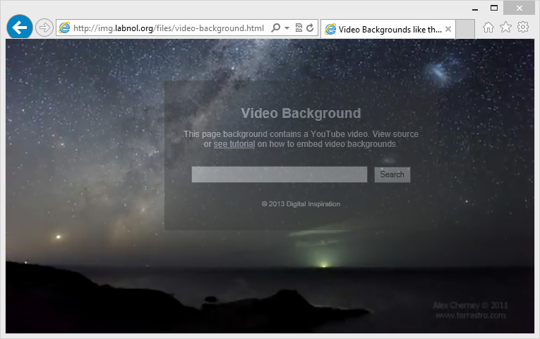 How To Use Youtube Videos As Your Webpage Background
