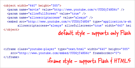 how to add embed code to youtube videos