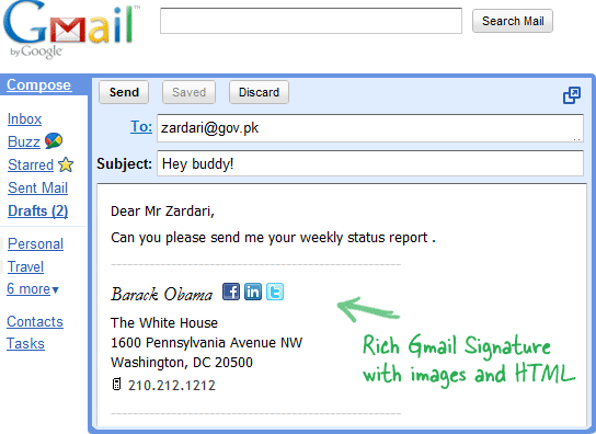 HTML Signatures in Gmail