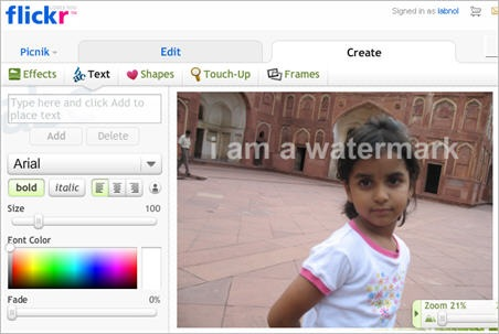 flickr image text watermarks