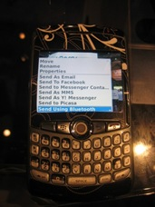 Upload Photos from BlackBerry