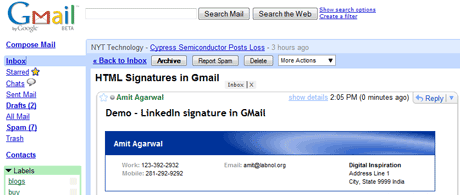 How To Insert Linkedin Email Signatures In Gmail