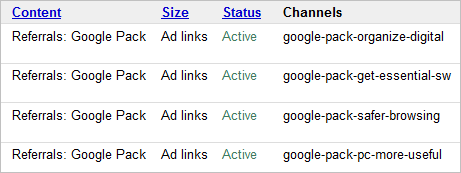 google-pack-channels