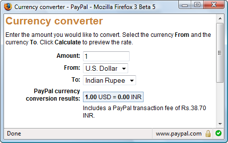 exchange currency yahoo