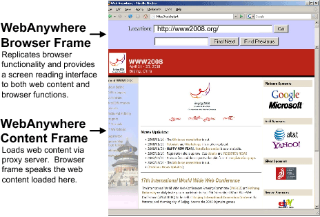 web screen reader